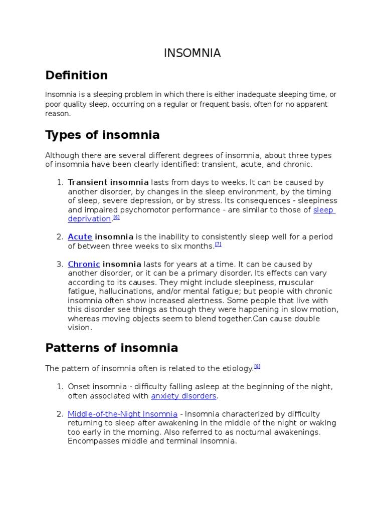 insomnia | insomnia | sleep