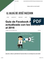 Guía de Facebook Ads Actualizada Con Los Cambios Al 2016