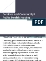Families and Community Public Health Nursing