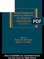 (Medical Psychiatry Series) Henry R. Kranzler, Joyce a. Tinsley-Dual Diagnosis and Psychiatric Treatment_ Substance Abuse and Comorbid