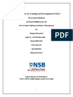 A Project Report on Training and Development of HAL