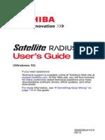 Toshiba Satellite Radius12 P20W-CST3N02 Users Guide