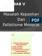 Ppt Masalah Kepastian Dan Falibilisme Moderat