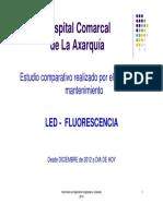 Presentación Estudio Comparativo Realizado por el Servicio de Mantenimiento LED-FLUORESCENCIA  en el Hospital Comarcal de la Axarquía