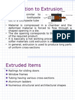 Introduction to Extrusion