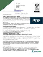 Newsletter February 2010