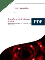 Transform to the Power of Digital Imp