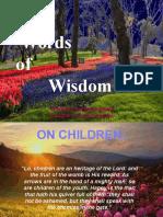 Words of Wisdom 3