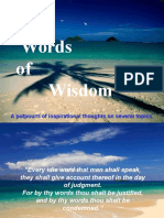 Words of Wisdom 4