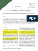 Modeling for Quantitative Non Destructive Evaluation