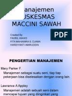 PUSKESMAS MACCINI SAWAH
