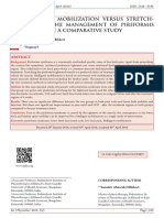 MULLIGAN MOBILIZATION VERSUS STRETCHING ON THE MANAGEMENT OF PIRIFORMIS SYNDROME A COMPARATIVE STUDY