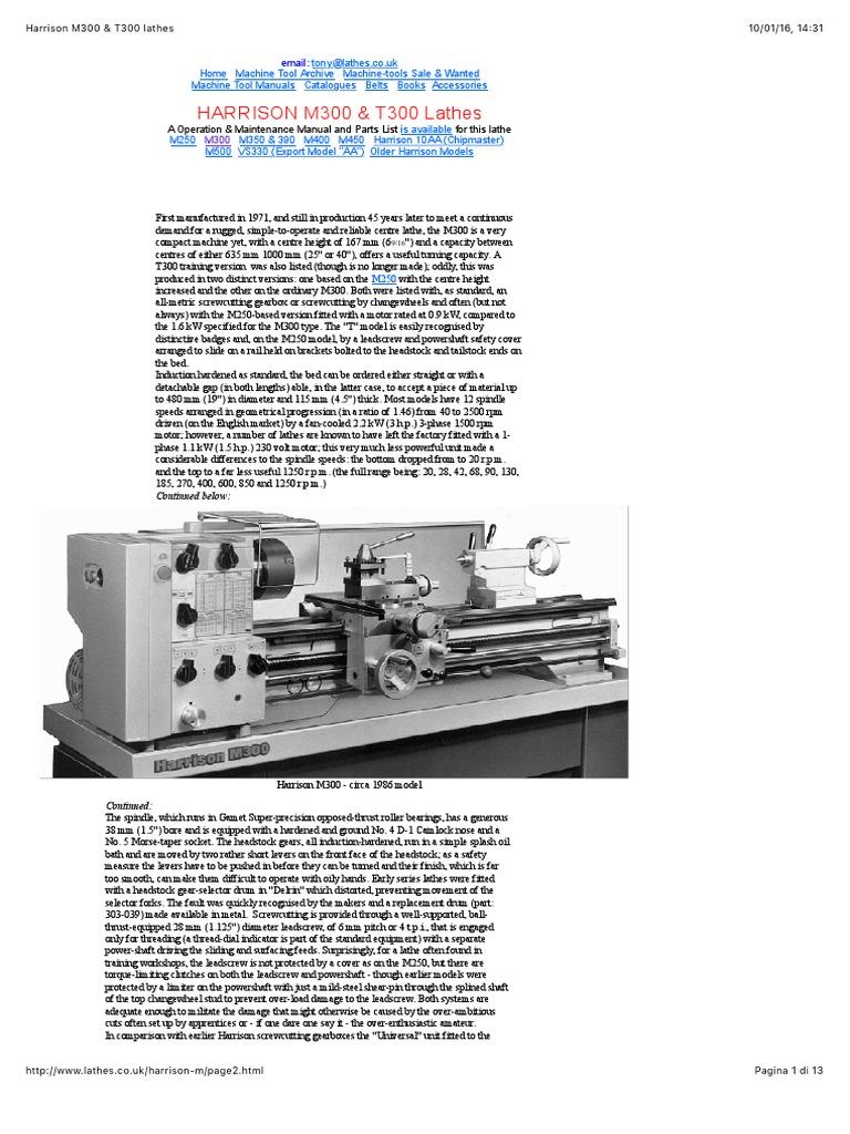 harrison m300 user manual ebook