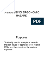 Asssessing Ergonomic Hazard