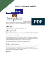 Guía de Registro de Empresas a Las AFPs