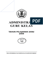 Administrasi Guru Kls Vi 2008 2009