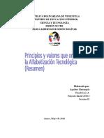 Principios y valores que orientan la Alfabetización Tecnológica