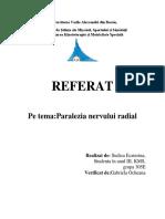 paralizia nerv radial