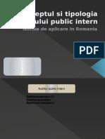Conceptul Si Tipologia Auditului Public Intern