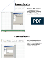 spreadsheets b