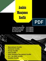 Analisis Manajemen Konflik