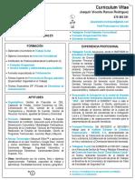 Flash CV de Joaquín Vicente Ramos Rodríguez