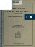 (1917) (No.1771) Handbook of the 4.7-Inch Gun Matériel Model of 1906 with Instructions for Its Care