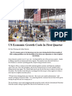 US Economic Growth Cools in First Quarter