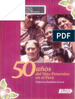 50 años del voto femenino en el Perú