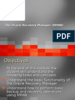 RMAN Backup and Recovery