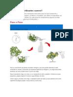 Cómo Hacer Fertilizantes Caseros