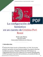 La conϐiguración de lo fantástico en un cuento deCristina Peri Rossi