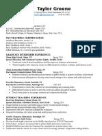 taylor greene resume