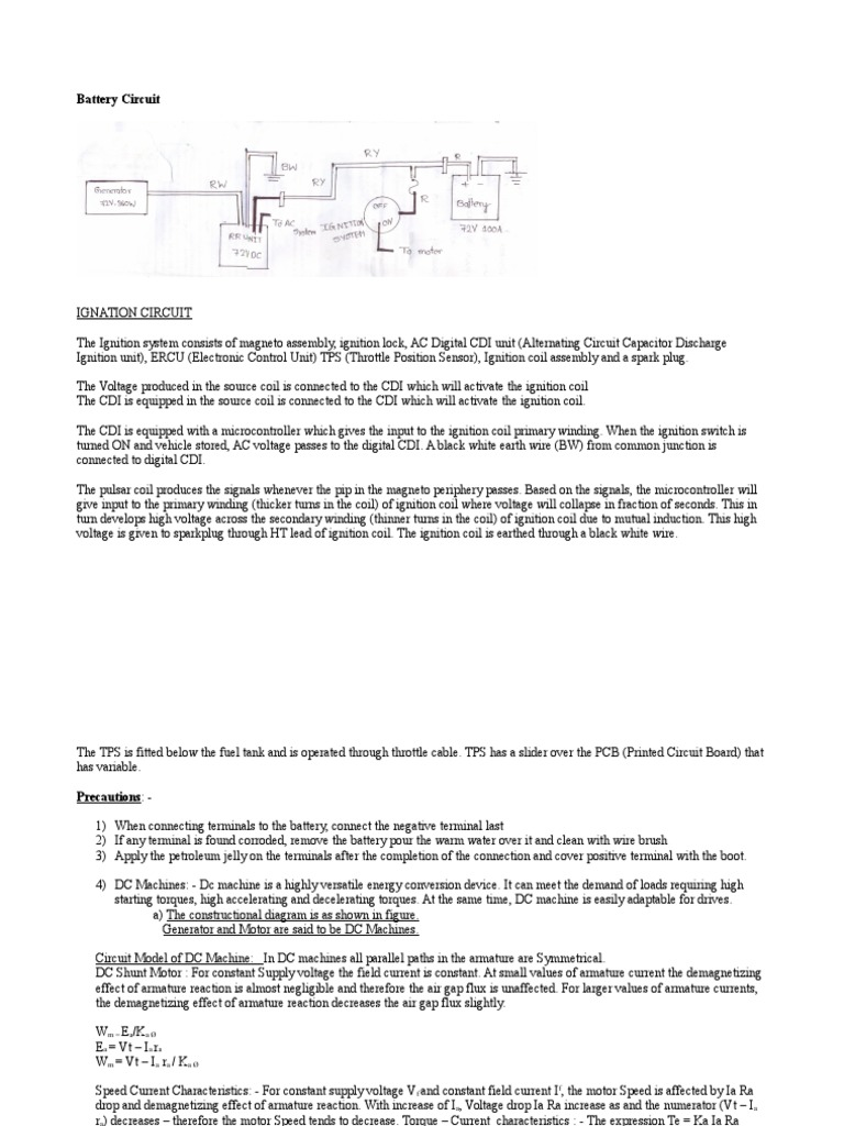 Battery Two Wheler | Ignition System | Rotating Machines