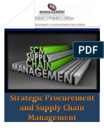 Strategic Procuremement and Supply Chain Management