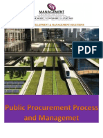 Public Procurement Practices and Process