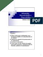 46050-L9 - 01 - Affidabilita e Disponibilita