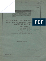 (1918) [S.S. 153] Notes on the '08 (Heavy) and '08'15 (Light) German Machine Guns