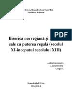 Biserica Norvegiana Si Relatiile Cu Puterea Regala Sec. XI-Inc. XIII