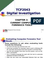 Chap 3 - Current Computer Forensics Tools