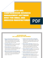 SAP Sales Brochure Manufacturing