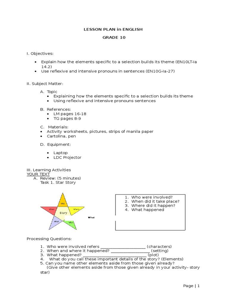 Uncategorized Intensive Pronouns Worksheet lesson plan for demonstration josenia 6 pages long minotaur