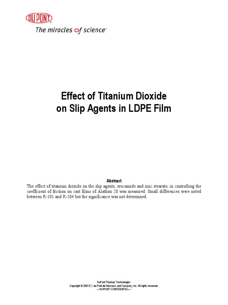 PL C Effect TiO2 Slip Agents