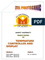 Temperature Control System Project Report.doc