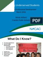 nacac2016 essentials underserved pptx
