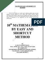 Mathematics by Short Cut Method English Medium