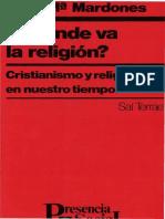 A Donde Va La Religion - Jose Maria Mardones