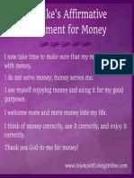Some Rev Ike Money Affirmations
