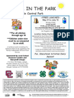 2016 Summer in the Park Flyer