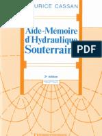 Aide Memeoire Hydraulique Souterraine
